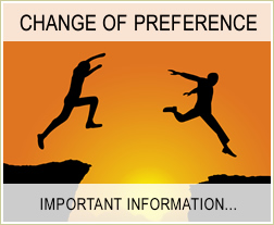Change of Preference - Important Information